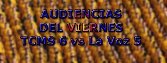 audiencia viernes 29 septiembre tv