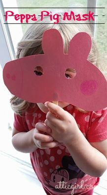 crafts, Peppa Pig craft ideas, pig mask