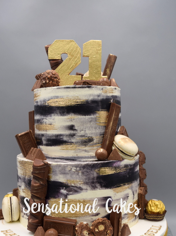 The Sensational Cakes 21st Birthday Cake With Gold Clement Style