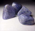 Tanzanite,  Tumbled stones, tumblestone meanings, A-Z tumbled stones, healing properties of tumbled stones, magickal healing properties of tumbled stones, tumbled stone information