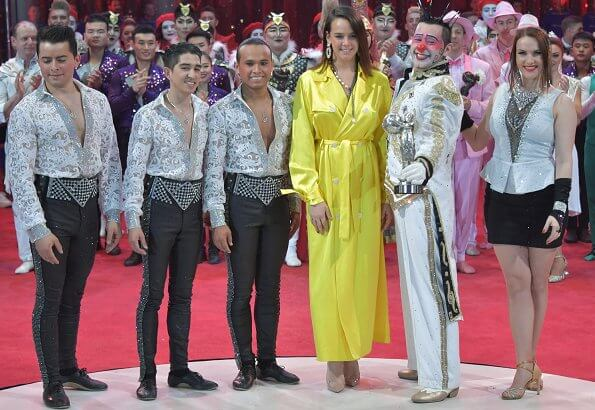Princess Stephanie, Pauline Ducruet, Louis Ducruet and Camille Gottlieb attended the awards ceremony of International Circus Festival