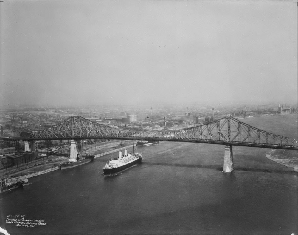 Jacques Cartier Bridge in Montreal in 1936