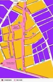 mapa da feira El Rastro