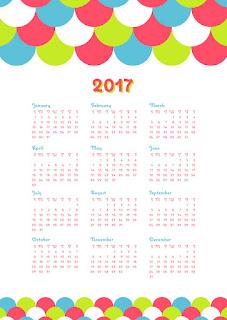 2017カレンダー無料テンプレート229
