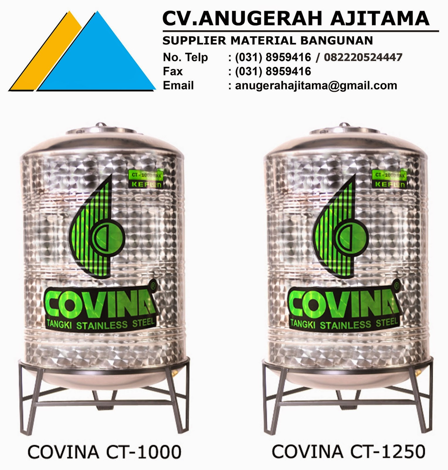 JUAL TANDON AIR STAINLESS COVINA
