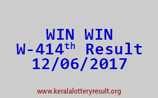 WIN WIN Lottery W 414 Results 12-6-2017