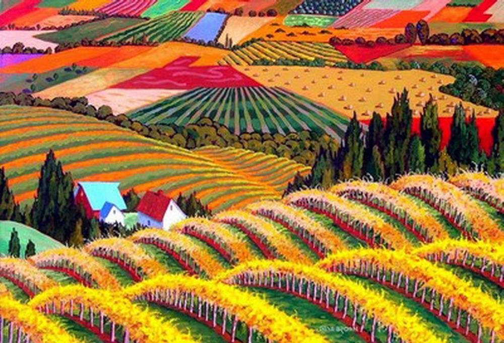 Im genes arte pinturas la fuerza del color en los - Cuadros modernos con mucho color ...