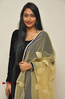 Actress Grace Myrtle Pos in Black Anarkali Dress at Beep Short Film Press Meet  0002.jpg
