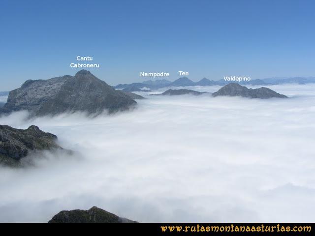 Mirador de Ordiales y Cotalba: Vista del Cantu Cabroneru, Ten y Mampodre desdel Mirador de Ordiales
