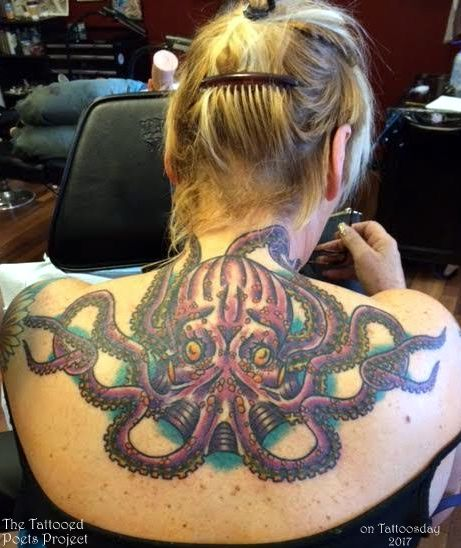One More Tattoo on a Poet! Natasha Dennerstein's Awesome Octopus