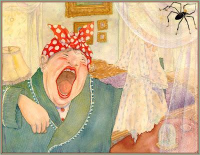 vieja gran carcajada, dibujo divertido