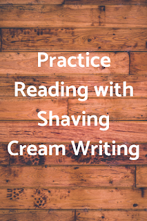 Practice Reading with Shaving Cream Writing