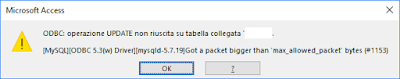 mysql odbc got a packet bigger than max_allowed_packet