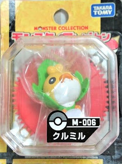 Sewaddle figure Tomy Monster Collection M series