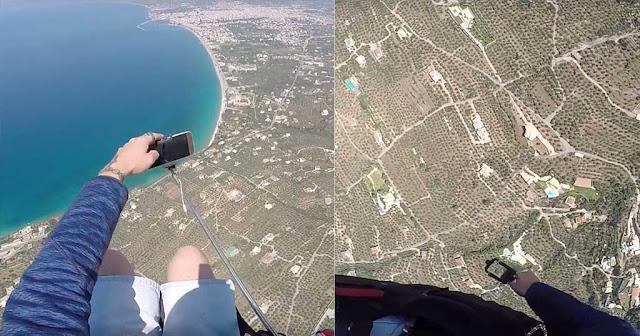 Έλληνας ήθελε να βγάλει selfie πάνω στο παραπέντε αλλά του έπεσε το κινητό