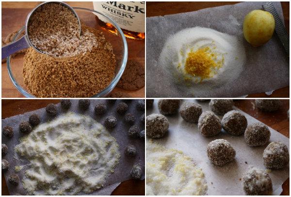 making Ginger Bourbon Balls