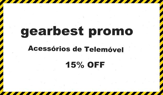 gearbest promo Acessórios de Telemóvel 15% OFF