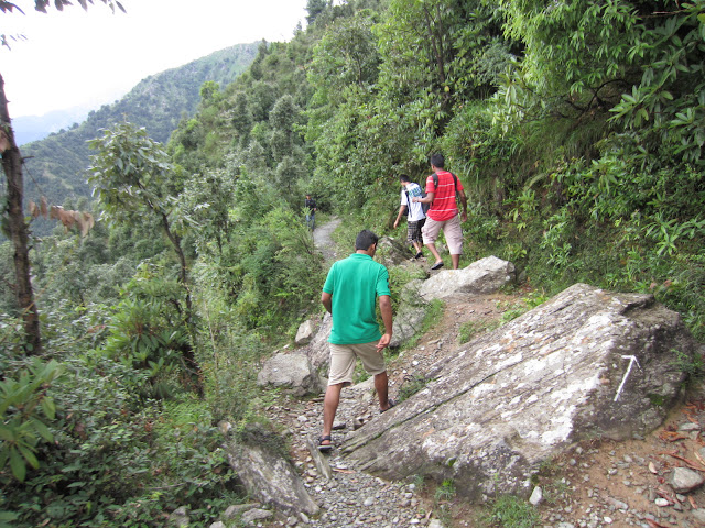 way to himalyan water fall
