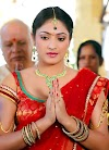 Indian Model Actress Hariprriya Photos In Traditional Red Saree