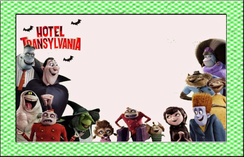 Para hacer invitaciones, tarjetas, marcos de fotos o etiquetas, para imprimir gratis de Hotel Transilvania.