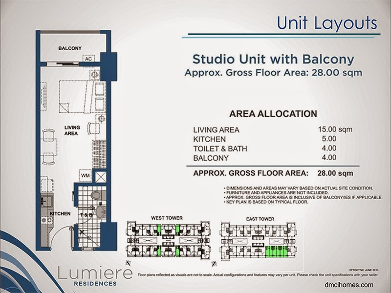 Lumiere Residences Studio Unit 28.00 sqm