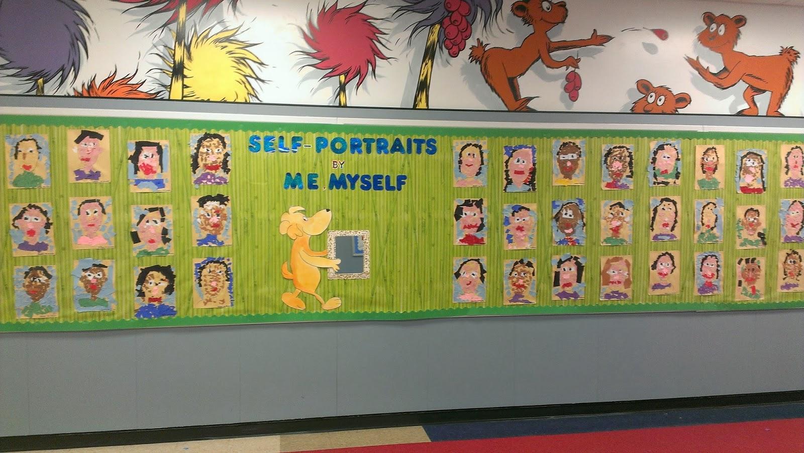 Art Kids Of Benavidez Elementary Self Portraits By Me Myself