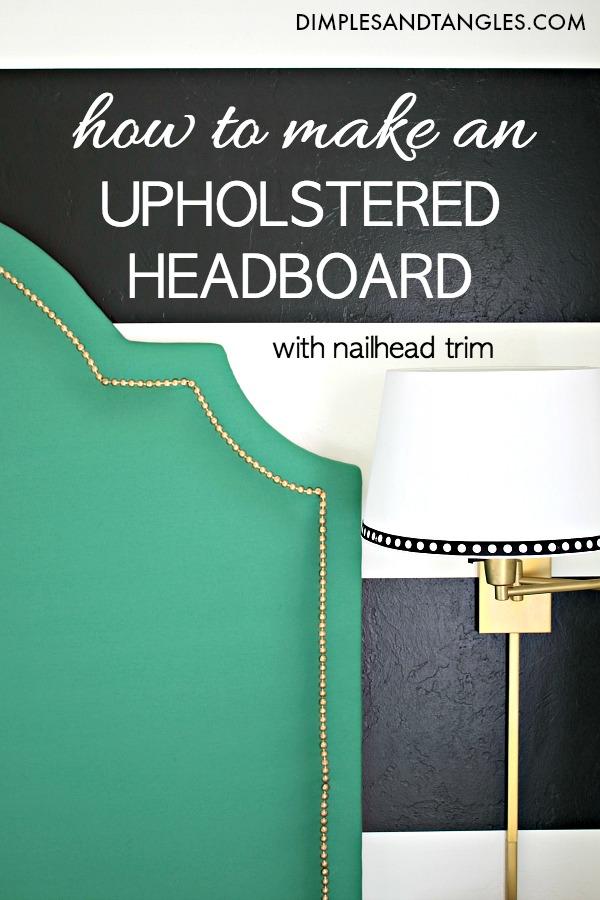 diy upholstered headboard, headboard tutorial, fabric headboard