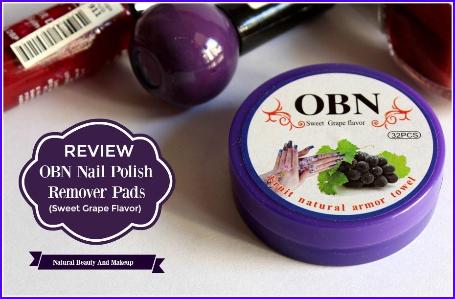 Natural Beauty And Makeup : OBN NAIL POLISH REMOVER PADS (SWEET ...