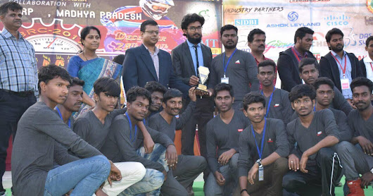 AVCE students win award in National level Electric Bike racing competition at Centurion University, Odisha