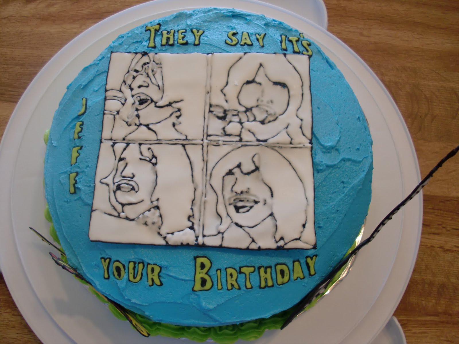 As Cakery Let It Be Jeffs Beatles Cake