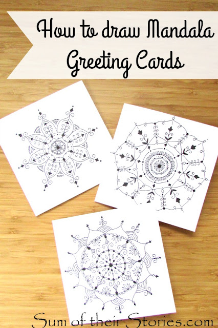 How to draw Mandala Birthday cards