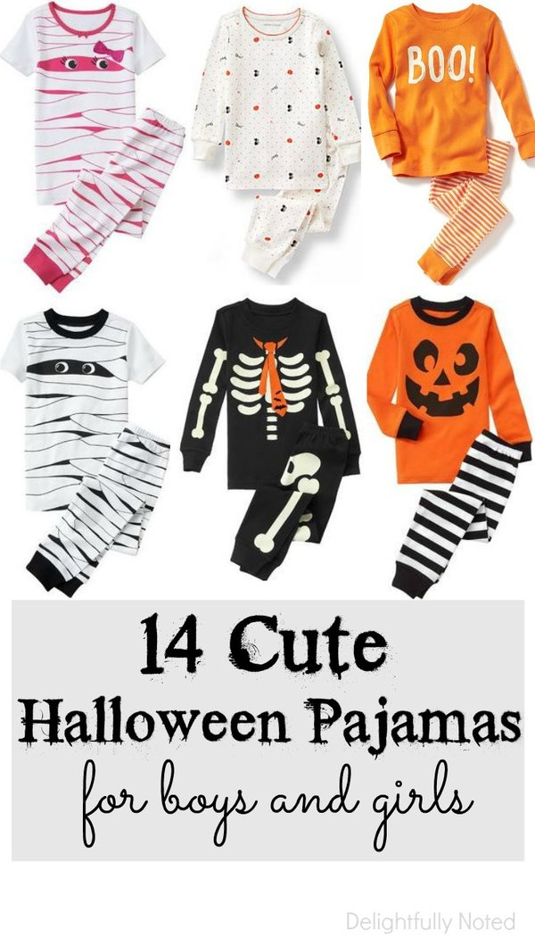 cute kid's halloween pajamas