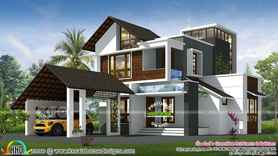 3 bedroom 1942 sq-ft contemporary mixed roof house