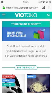Viotoko, template toko online Mas Sugeng