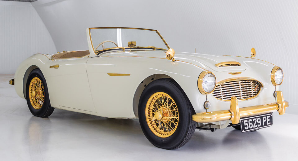 One Off Golden Austin Healey Is Worthy Of Austin Powers