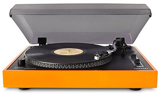 Orange Crosley Record Radio Player