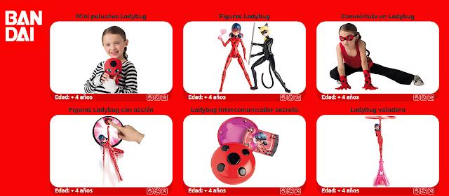 Juguetes Ladybug Disney de Bandai