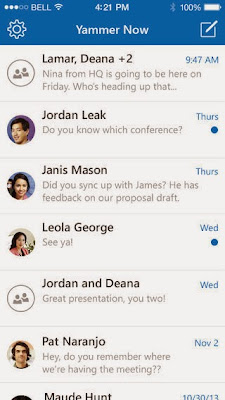 Yammer Now for iPhone