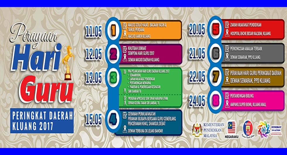 My E Koko Banner Hari Guru Daerah Kluang 2017