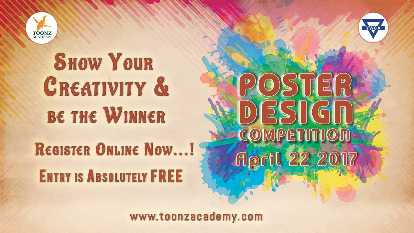 Poster design online free download - Poster Design Competition 2017 Toonz Academy Ywca