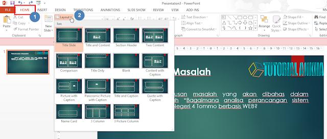 Menambahkan Slide Baru dan cara Mengganti Layout Powerpoint