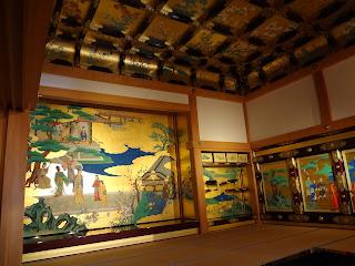 熊本城の本丸御殿内部(昭君之間)
