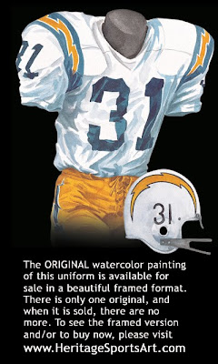 San Diego Chargers 1968 uniform