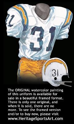 San Diego Chargers 1968 uniform