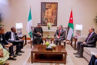 president buhari in jordan