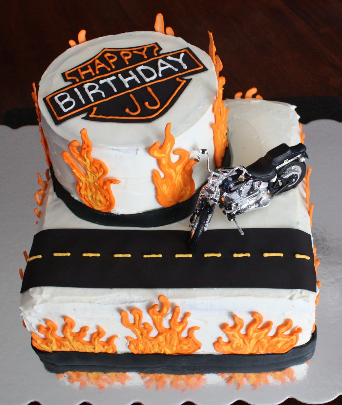 Straight to Cake Harley Davidson Cake