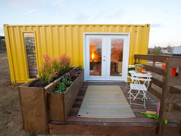 Relaxshacks Com A Mid Century Modern Tiny Shipping Container Home
