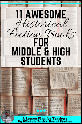 Are you looking for great fiction books to use in the middle or high school Social Studies classroom? This historical fiction list will be a great addition for your lessons and will keep your students engaged!  Click to see the suggestions for World History, U.S. History and more!