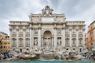 Vanvitelli worked with Nicola Salvi on the construction of the Trevi Fountain and designed the facade of the Palazzo Poli