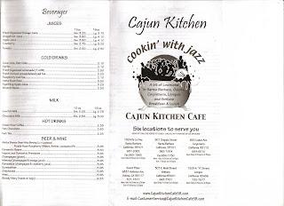 Cajun Kitchen Santa Barbara Menu